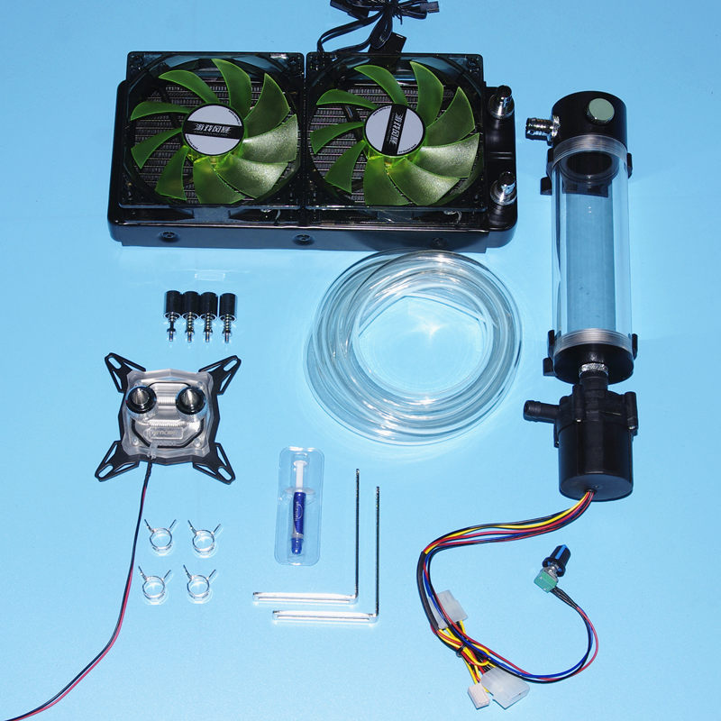 Computer PC CPU graphics card Speakers Water Cooling cooler block water tank Adjustable speed pump fans