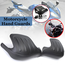 1 Pair PP Motorcycle Wind Deflector Handguard Hand Guard Protector Shield Black