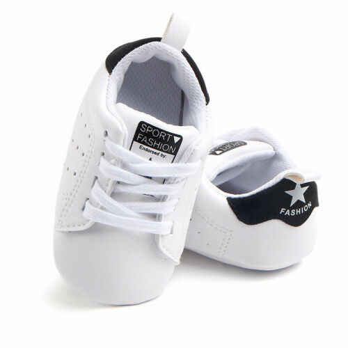 Trẻ sơ sinh Toddler Unisex Sneakers Mềm Sole Crib Thoải Mái PU Giày Em Bé Bình Thường