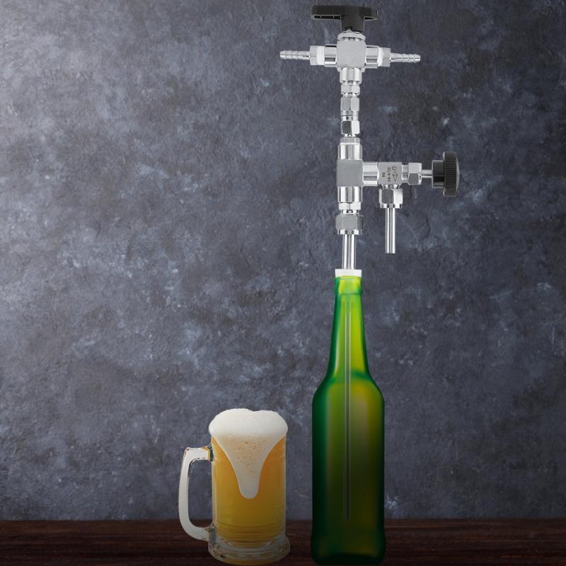 US $29 9 35% OFF Beer Bottle Filler Stainless Steel Counter Pressure Beer  Bottle Filler Home Brew Co2 Beer Brewing Kit Made of Good Quality-in Other