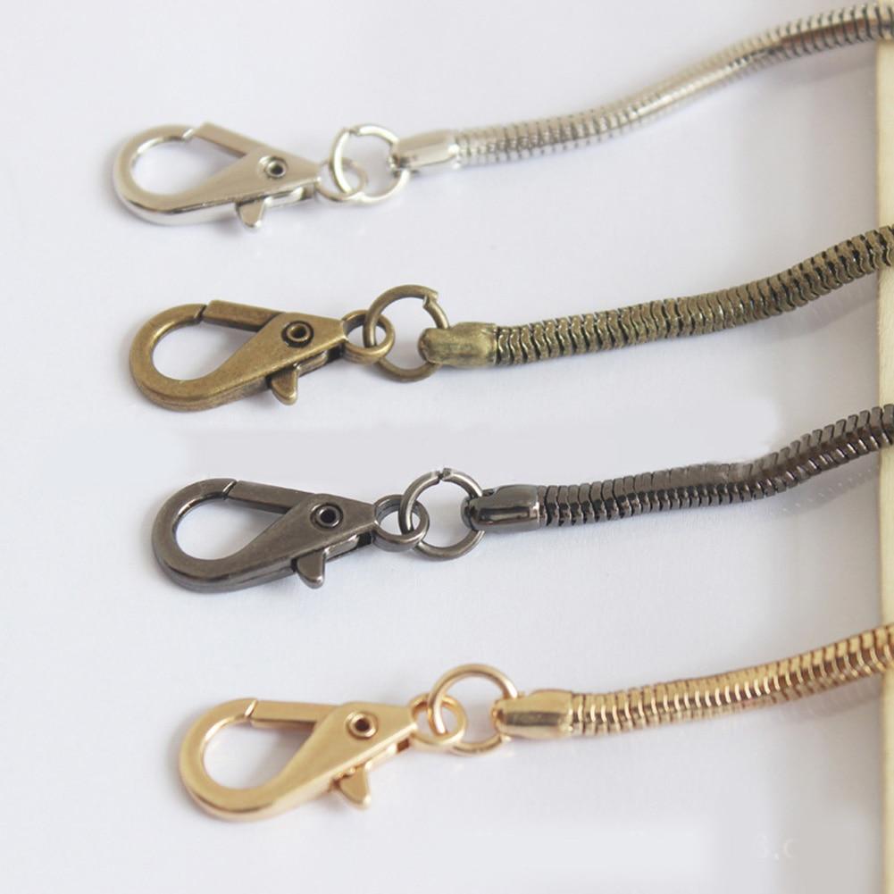 4.2mm 120cm Cross Body Handbag Shoulder Bag Strap Snake Chain Strap Replacement Bag Parts Belts New Style Bags Silver Metal Belt
