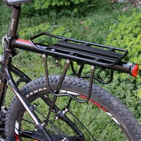 bike Trunk quality quickly understands bike shelves aluminum alloy mountain bike man shelves bicycles rear seats for riding acce