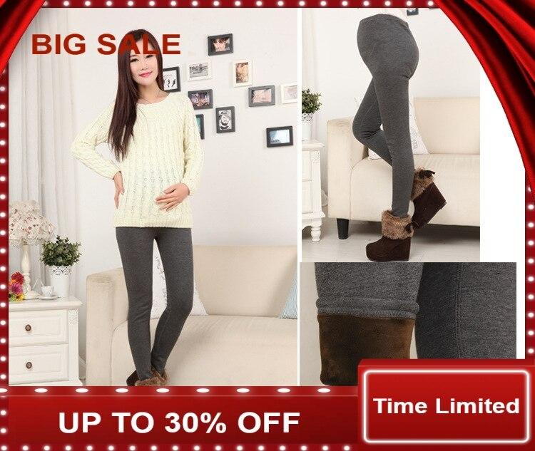 2016 nouveau hiver Leggings de maternité belle spectacle Leggings minces pantalons genou longueur robes vêtements pour femmes enceintes