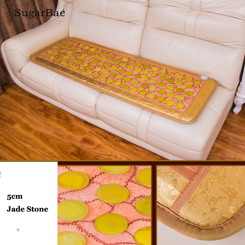 New Design Jade Mattress Thermal Heating Health Care Sofa Mat Electric Heated Full Back Pain Relief Mat For Sale image