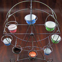Hot 8 Cups Cake Stand Metal Ferris Wheel Display Stand Cup Holder Party Decoration Cupcake Stand Wedding For Valentine's Day
