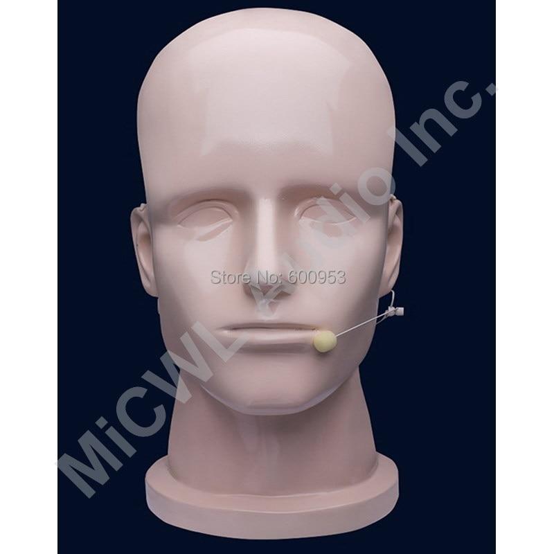 Beige Omnidirectional Wireless Headset Head Worn Microphone Mics For Audio-Technica Radio Mics System