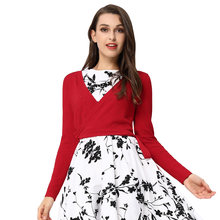 85ea430289966b BP classy short knitted coat Women Retro Vintage tops sweater Long Sleeve  V-Neck heart pattern Cropped Wrap Cardigan Knitwear