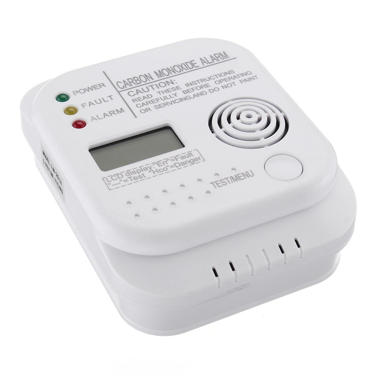 NEW Safurance CO Carbon Monoxide Alarm Detector LCD Digital Home Security Indepedent Sensor Safety