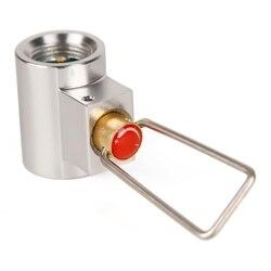 Flat Gas 조 (어댑터 밸브 Canister Gas 컨버터 시프터 캠핑 스토브 Metal Gas 리필 어댑터 Cylinder 리필 스토브 어댑터