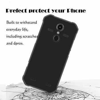 0.3MM 2.5D Clear Tempered Glass Screen Protector For AGM A9 Pro Matte Black TPU Back Cover Case for agm h1 Protection LCD Film
