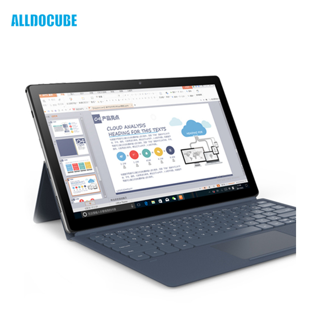 ALLDOCUBE KNote Go Tablet Laptop 2 in 1 11.6 inch Windows 10 Intel ApolloLake N3350 Quad Core 4GB 128GB Dual Cameras Tablet