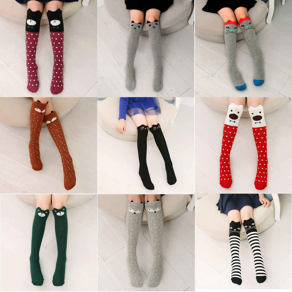 Baby Girl Boys Kids Toddlers Cartoon Knee High Stocking Tights Children Soft Stretch Leg Warmer Stockings Tights For Age3-12