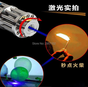 450nm High Power 100W 1000000m Blue Laser Pointers LED Flashlight Burn Match Candle Lit Cigarette Wicked Wholesale LAZER Hunting