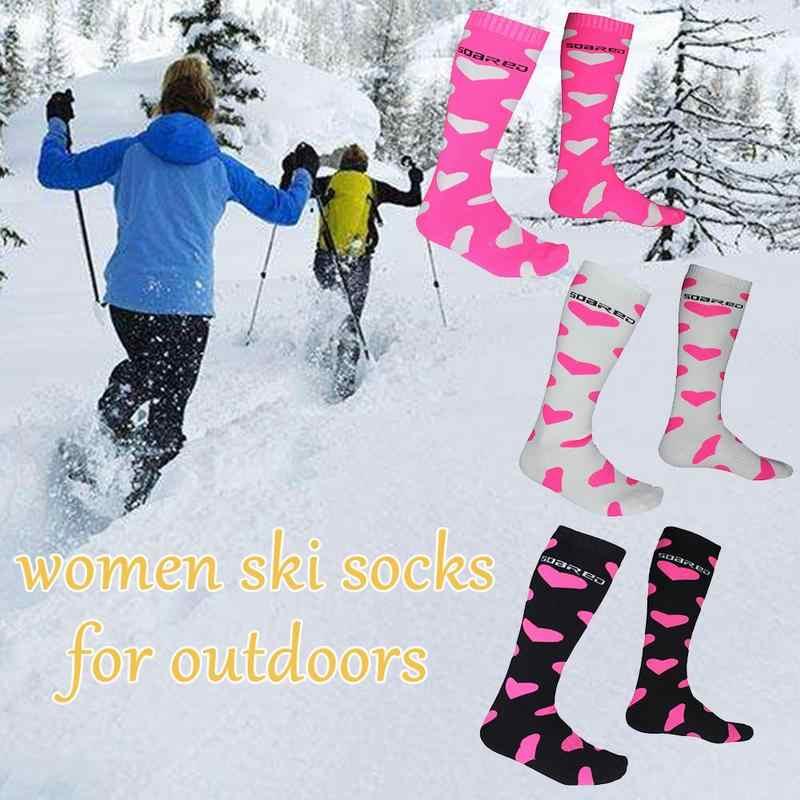 رشاقته القطن للجنسين الشتاء جوارب رياضية الدافئة الحرارية تزلج على الجليد الجوارب القيام بنزهات طويلة سيرًا على الأقدام جوارب دفئا