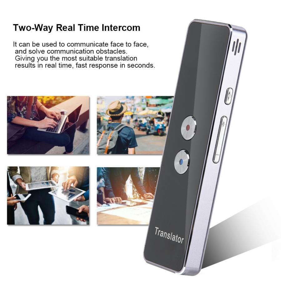T8 language translator 2 4G Smart Bluetooth Pocket Interpreter Real Time Speech Multilingual Translator Purple instant