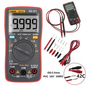 AN8008 RMS Digital Multimeter 9999 counts Square Wave Backlight AC DC Voltage Ammeter Current Ohm Auto/Manual(China)