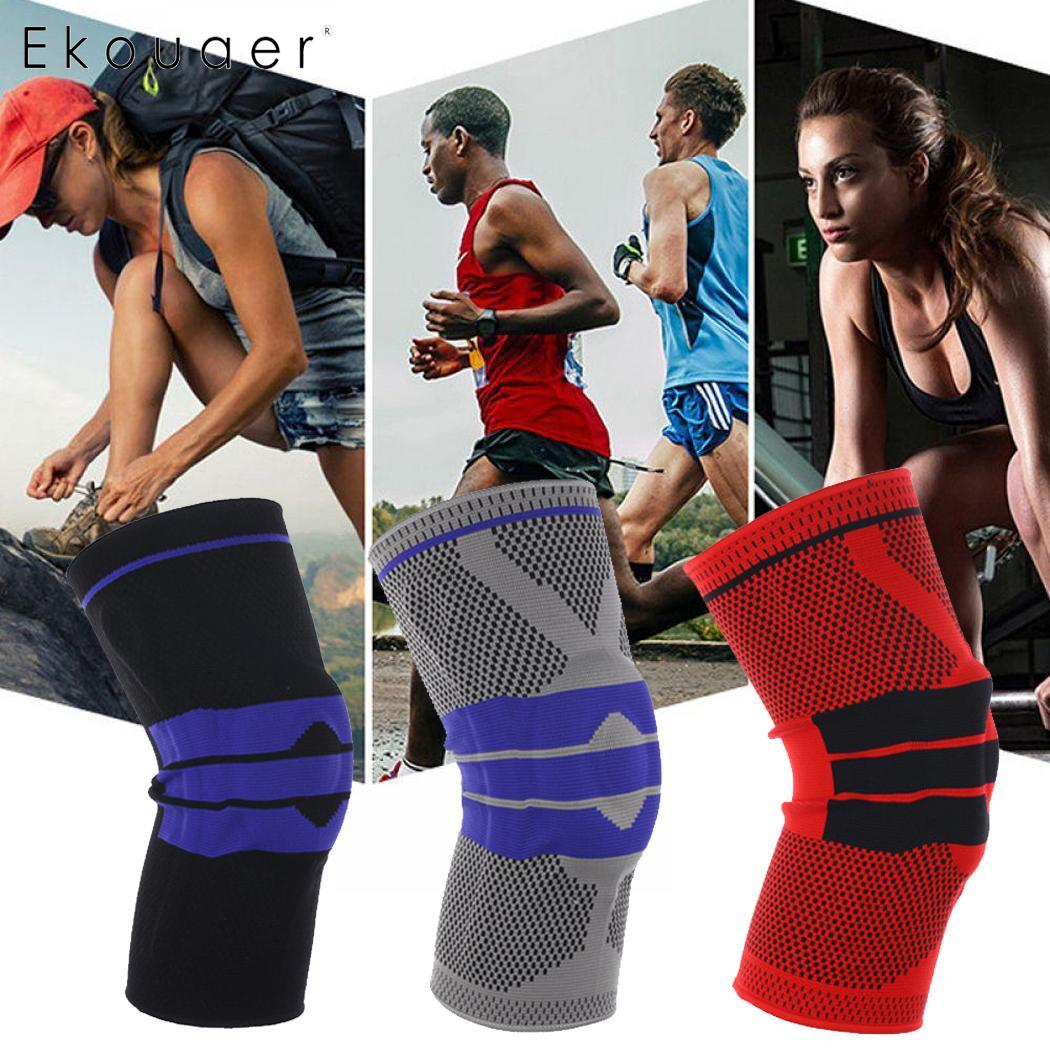 Patchwork Red Unisex Protect Compression Gray Kneepad Elastic Sporting Black Breathable