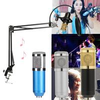 1 set Computer Condenser Audio 3.5mm Wired BM 800 Studio Microphone Vocal Recording KTV Karaoke Mic with Microfone Stand Holder