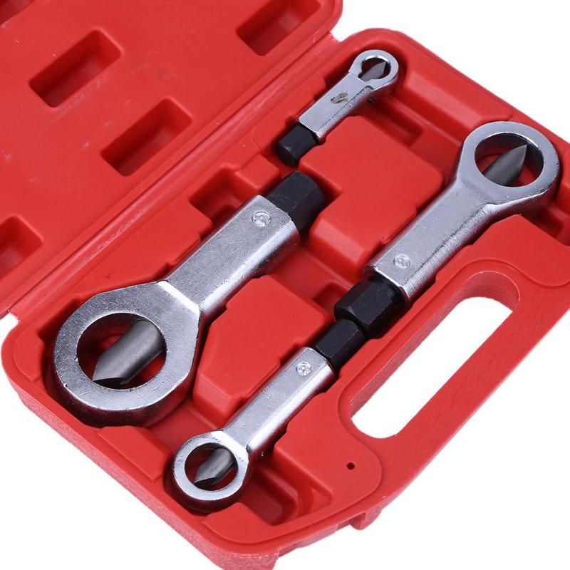 1/4pcs Hand Tools 9-27mm Nut Splitter Cracker Remover Extractor Tool Set Rust Nut Removal Puller Break Damaged Screw Repair Tool
