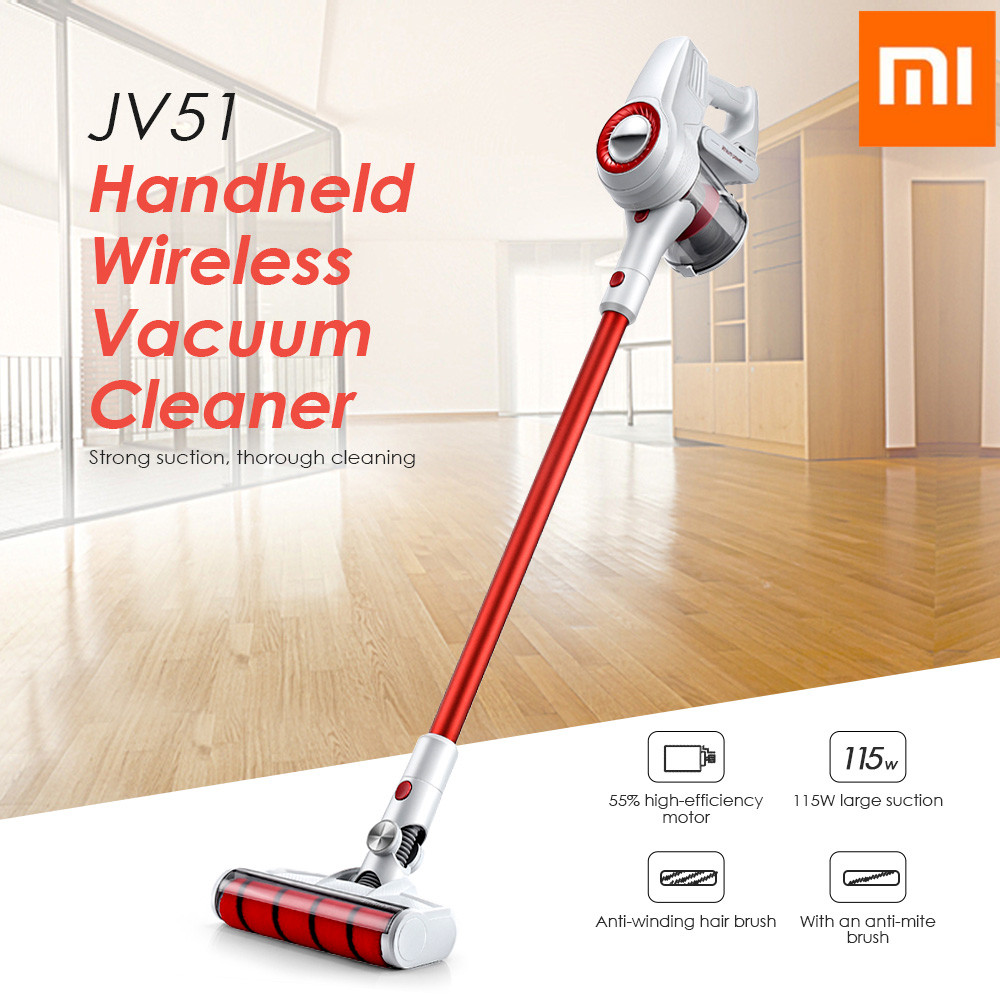 new 100000rpm xiaomi vacuum cleaner jimmy jv51 handheld wireless strong suction vacuum dust. Black Bedroom Furniture Sets. Home Design Ideas