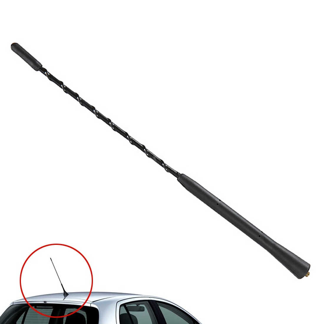 Marsnaska New Arrival Universal 11inch Screw-in AM/FM Roof Vehicle Car  Antenna Whip Mast Aerial for BMW Mini Cooper Toyota Ford