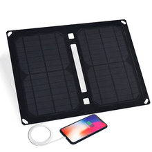 Xinpuguang 14W Zonnepaneel Charger 5V 2.1A USB Output Devices Portable Solar Panels Outdoor Power Bank for Smartphones Laptop цена и фото