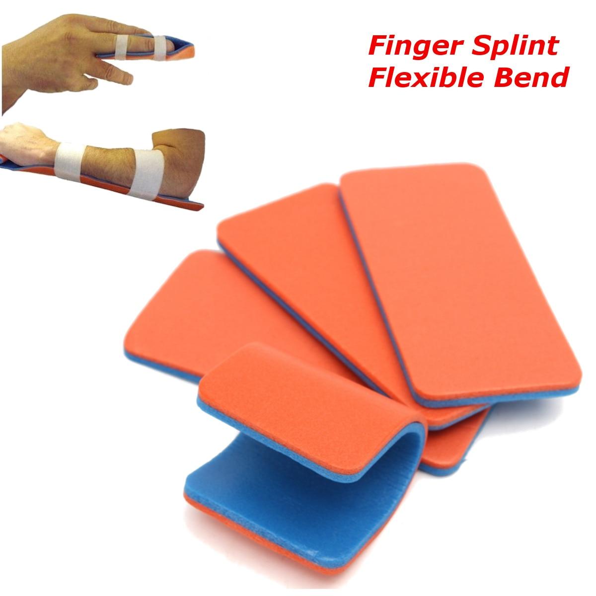 4Pcs Finger Splint Aluminum Medical Polymer Sam Orthopaedics Emergency First Aid Kit Treatment Kits