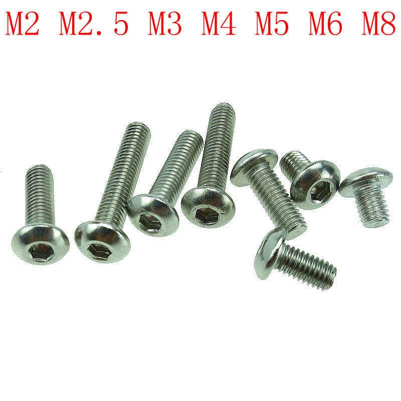 5//10//20//50pc DIN933 M6 M8 M10 A2 304 Stainless Steel Hex Cap Screw Hex Head Bolt