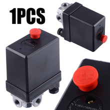 Mayitr 3-phase Heavy Duty Air Compressor Pressure Switch Control Valve Compressor Pressure Switch Part 380/400V non adjustable 125psi 2 phase compressor pressure switch air valve gauge control relief 230v 1 port high quality
