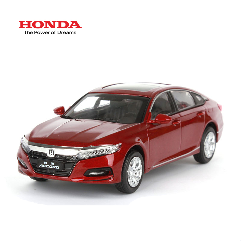 1 43 Scale 10th Generation Honda All New Accord 2018 Red Diecast model