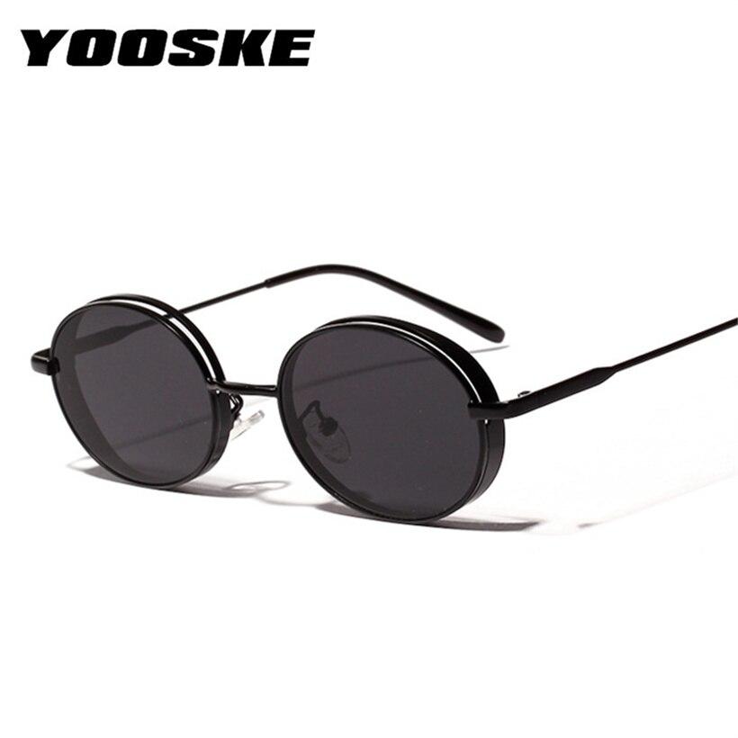 f42a91b59b YOOSKE Metal Round Sunglasses Women Vintage Fashion Small Sun Glasses  Ladies Red Glasses Men Luxury Designer Eyeglasses UV400 -in Sunglasses from  Apparel ...