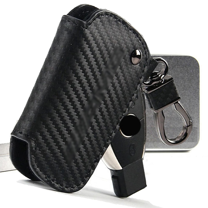 Car Key Case Shell For Mercedes Benz A CLA GLA C E S AMG Anti Rust Leather Cover