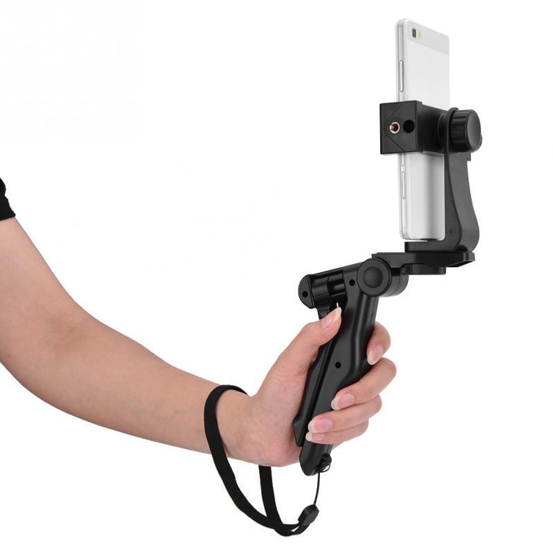 100% Wahr Telefon Halter Stativ Handheld Stabilisator Hand Grip Halterung Für Smartphone Feine Verarbeitung