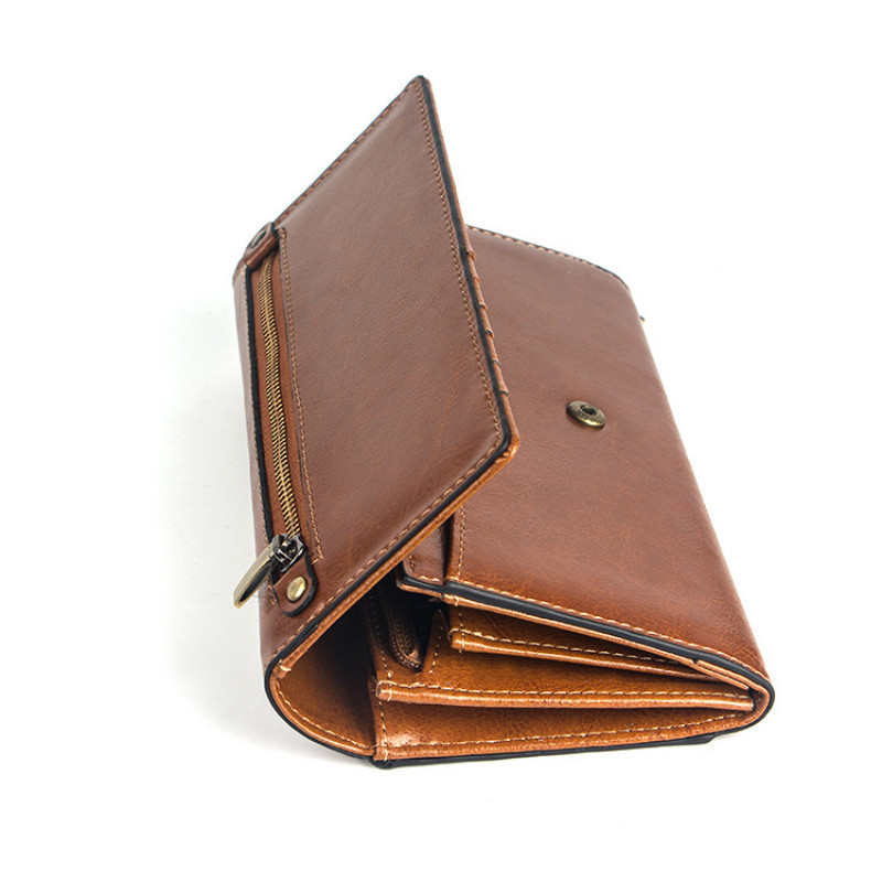 Genuine Leather Women Wallets With Coin Pocket Female Purse Long Causual Womens Wallet Thrifold Phone Pocket Cartera Mujer