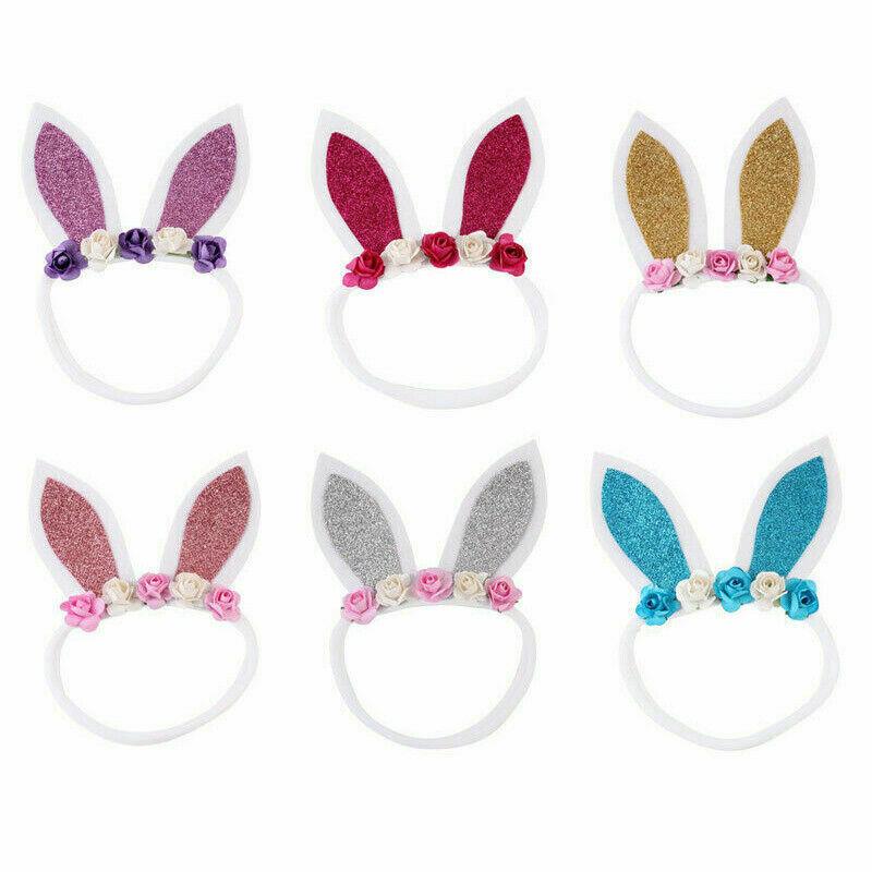 Baby Kids 2019 Easter Headwear Baby Headband Bunny Ear Hairband Soft Elastic Rabbit Headband Hair Band