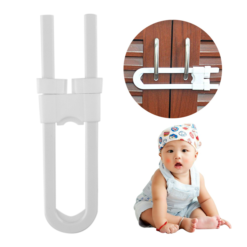 Protection Lock U Shape Baby Safety Lock Prevent Child From Opening Drawer Cabinet Door Children Safety Lock
