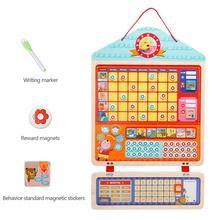 Малыш деревянные магнитные награда деятельности ответственность диаграмма календарь расписание Обучающие игрушки для детей целевой доска