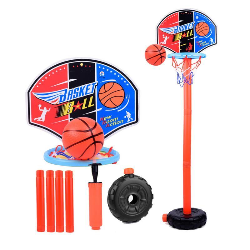Children's Basketball Stand Portable Basket Rack Indoor Plastic Children's Shooting Rack  Adjustable Children's Basketball Toy