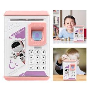 Image 2 - 전자 저금통 ATM 암호 돈 상자 지문 동전 돈 절약 상자 ATM 은행 금고 상자 예금 은행권