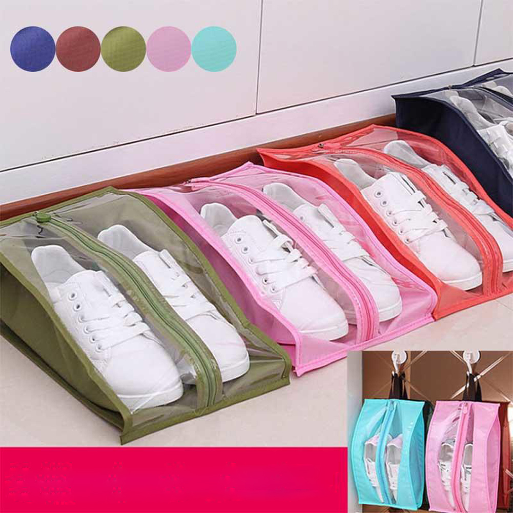Fashion Waterproof Shoes Bag Travel Portable Shoe Storage Bag Organizer Dust Bags Zipper Dustproof Shoes Storage Pouch