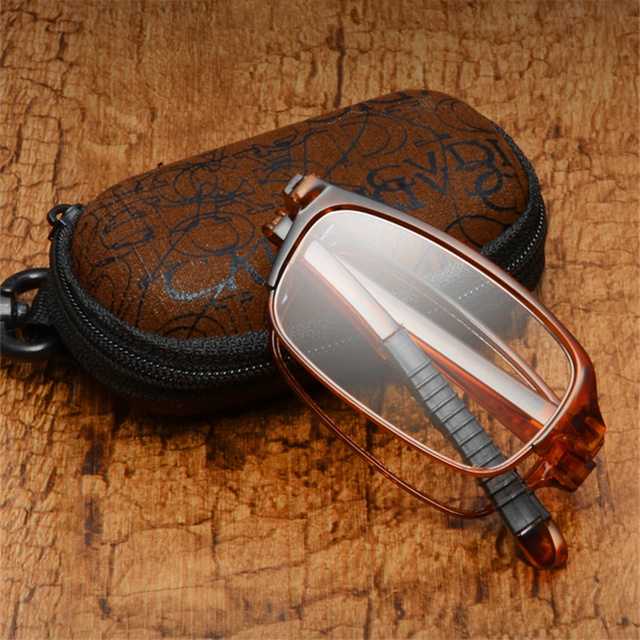 Fashion Folding Reading Glasses Men Women HD Aspheric Resin Folded Presbyopic Reading Eyeglasses Female Male Eyewear