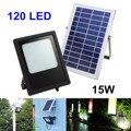 120LED 15 Вт на солнечных батареях  прожекторная панель  комплект  ночная лампа  датчик  наружная садовая стена  уличный точечный свет  наружное ...