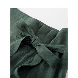 Image 4 - INMAN verano cintura alta literaria Retro definido cintura cordones Slim Casual todo combinado A line falda de las mujeres