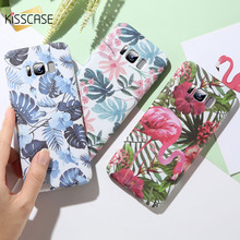 KISSCASE Tropical Leaves Phone Case For Xiaomi Mi 8 Lite Play Flamingo Flower Print Hard PC Back Cover Redmi Note 7 Cases