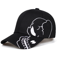 2019 new Unisex Cotton Outdoor Baseball Cap Skull Embroidery Snapback Fashion Sp
