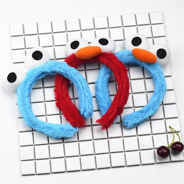 Us 4 59 6 Off Aliexpress Com Buy Sesame Street Party Supplies Plush Hair Bands Toys Elmo Cookie Monster Bird Band Bracelet Hair Accessories Doll
