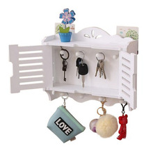Simple Modern Wall Shelf, Living Room Hook Decoration Rack, Key Storage box on Wall for Decoration