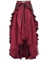 New Ruffles Victorian Bustle Gothic Retro Vintage Open Skirt Steampunk Ruffled #