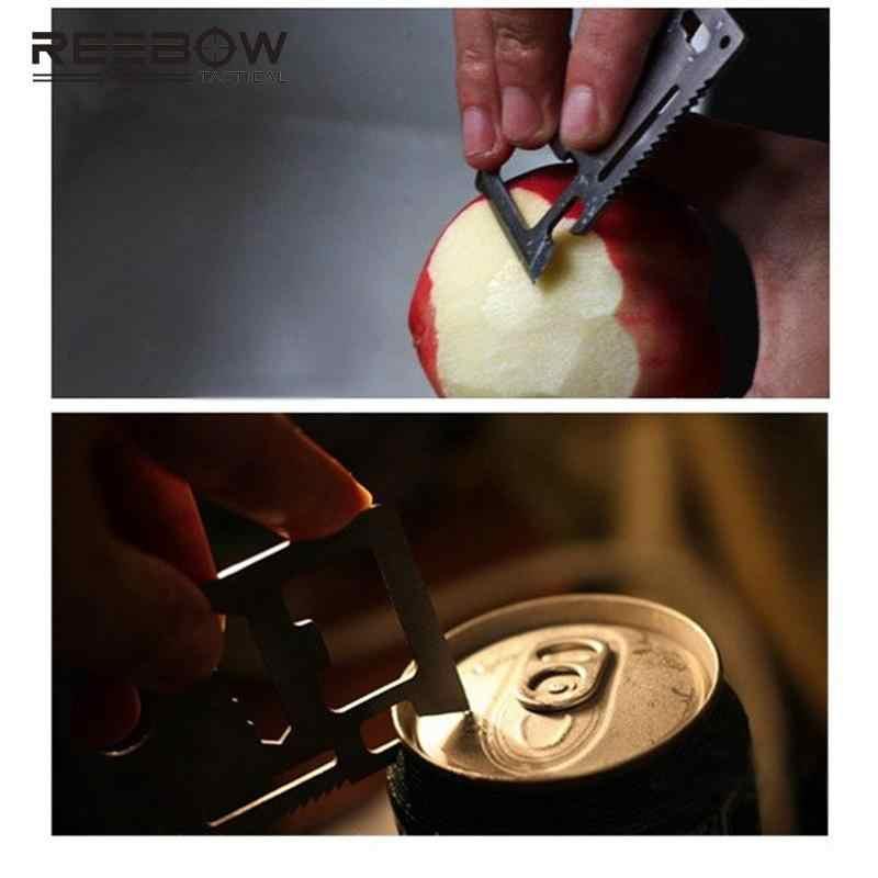 سكين بطاقة ائتمان خارجي من الفولاذ المقاوم للصدأ متعدد الوظائف أداة EDC الجيش التخييم العسكرية التنزه البقاء على قيد الحياة سويسرا