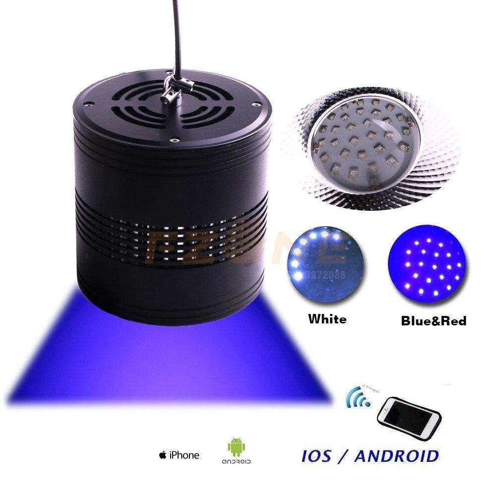 Lumière LED marin d'aquarium de Version d'application de Fzone pour le corail avec la couleur bleue blanche ont la fonction de minuterie pour simuler le lever et le coucher du soleil